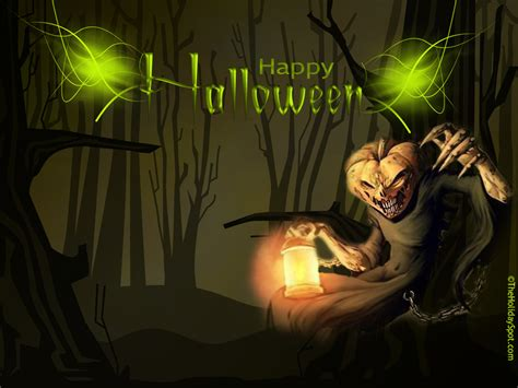 Scary Jack O Lantern Halloween Desktop Images