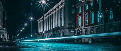 Street Night Lights Exposure 1080p Dual Wide