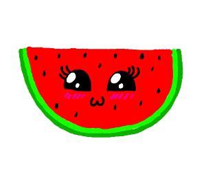 kawaii watermelon drawception