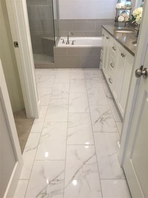 awesome  marble tile bathroom flooring ideas home