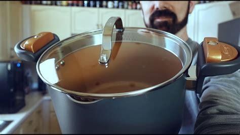 gotham steel pasta pot review   straining pot work youtube