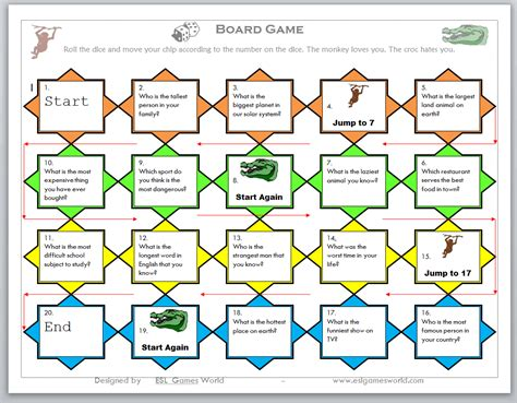 A Board Game To Enhance Your Students