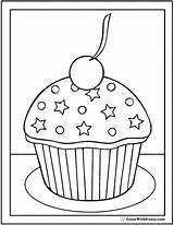 Coloring Birthday Pages Cupcake Happy Cupcakes Pdf Grandma Cream Ice Stars Colorwithfuzzy Printable Sheets Getdrawings Customizable Cakes Print Getcolorings Drawing sketch template