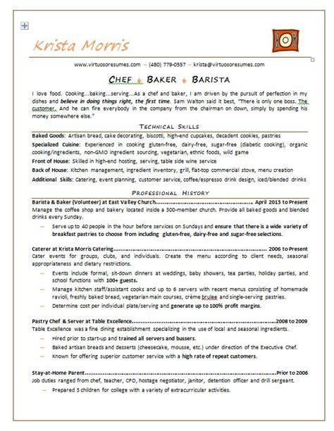 professional chef resume  professional resume