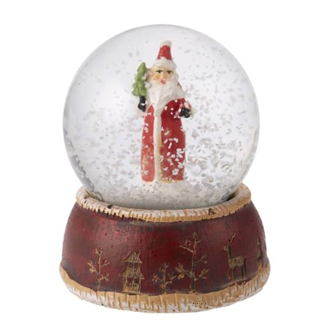 traditional christmas snowglobes traditional santa mini snow globe by the home notonthehighstreet