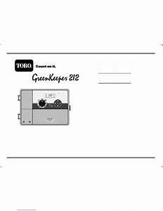Toro Greenkeeper 212 User U0026 39 S Manual