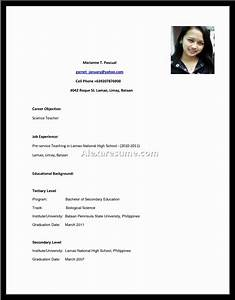 Doc Example Resume Resumes Templates For High