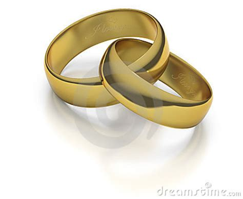 gold wedding rings  bands intertwined royalty  stock