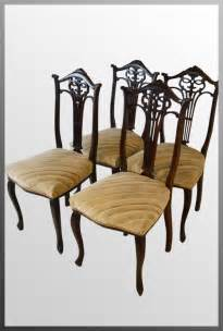 set 4 upholstered dining chairs cabriole leg antiques atlas