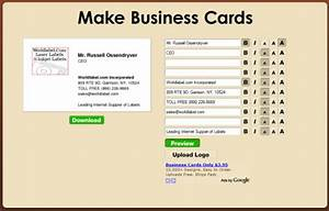 Quick free business cards online worldlabel blog for Online business cards free