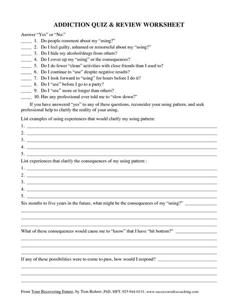 Examples Of Cross Addictions  Addiction Quiz Review Worksheet  Addictionrecovery Pinterest