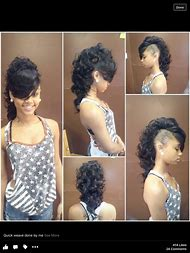 Black Hairstyles Mohawk with Weave