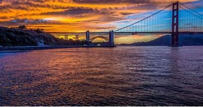 Francisco San 4k Wallpapers Bridge Gate Golden