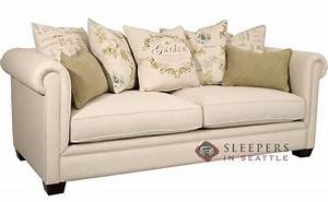 Customize and personalize chardonnay queen fabric sofa by for Queen size sofa bed sectional