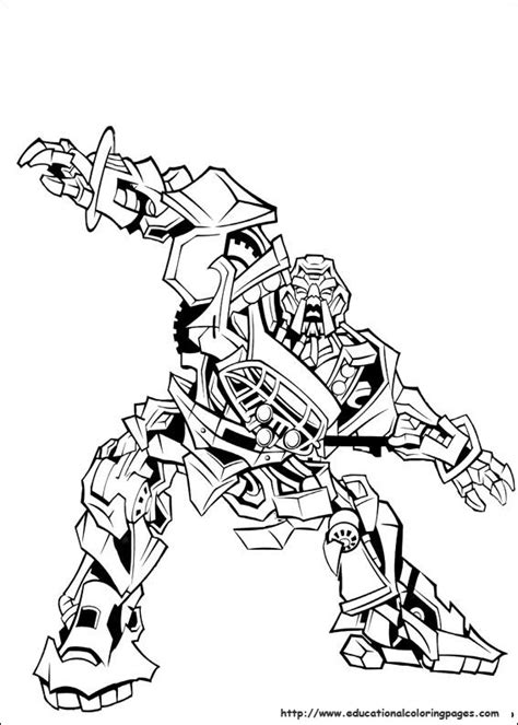 educational fun kids transformers coloring pages