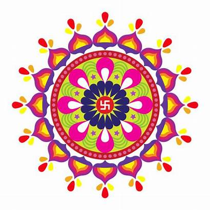 Rangoli Vector Diwali Indian Colorful Festival Floral