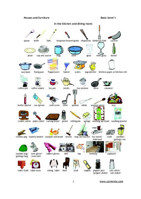 vocabulaire anglais cuisine pièces de la maison en anglais