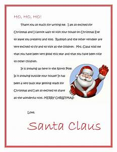 Letter to santa allaboutmanners for A letter from santa