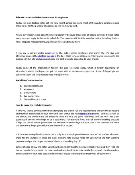 19 hospital note for work template 12 doctors note