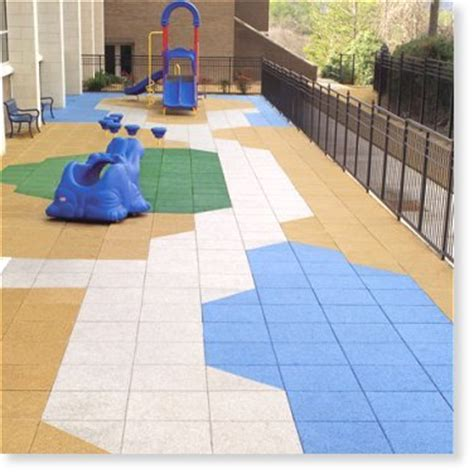 playground roof deck tiles from recycled rubber eco