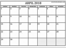 April 2018 Calendar – FREE DOWNLOAD Cheetah Template