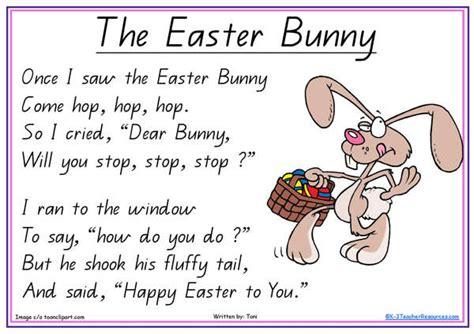 easter poem for preschool the easter bunny poem 667