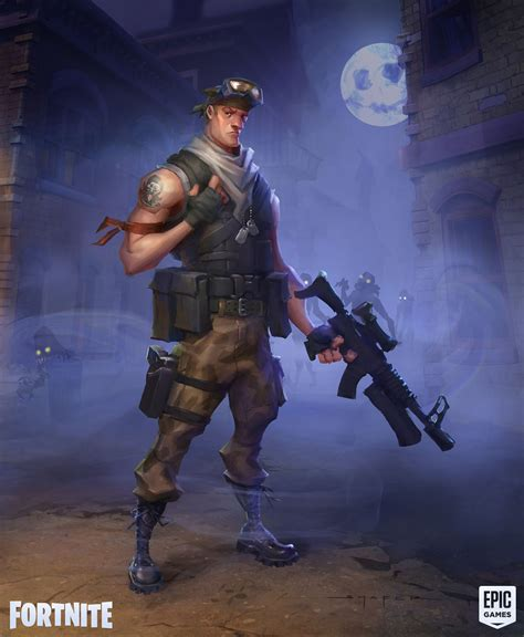 artstation fortnite commando concepts ben shafer