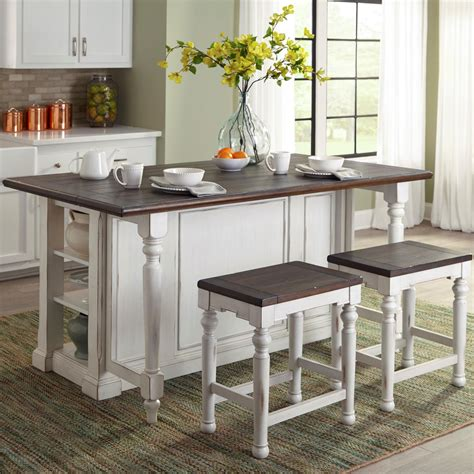narrow kitchen island with stools designs bourbon county 3 kitchen island set 7064