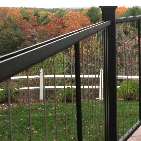 vertical cable stair railing panels  fortress discover