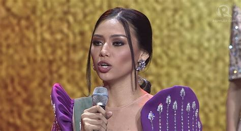 miss ph earth candidate bellatrix speaks up on elni 241 olani 241 a answer