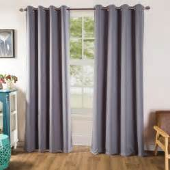 grey blackout room darkening grommet curtains window panel