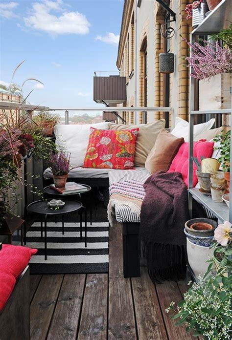 small boho chic balcony garden homemydesign