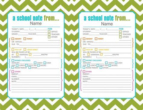green cute printable school notes
