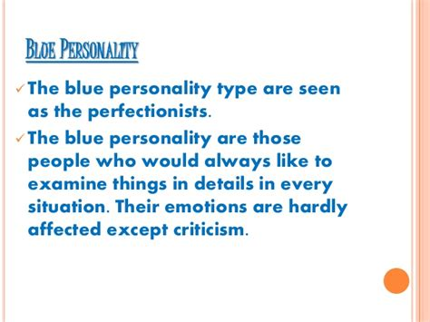 Colour Personality