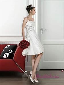 Kurz Hochzeitskleid Standesamt Corsage Seitlich