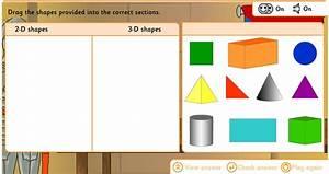 Interactive 2d And 3d Shapes Sort