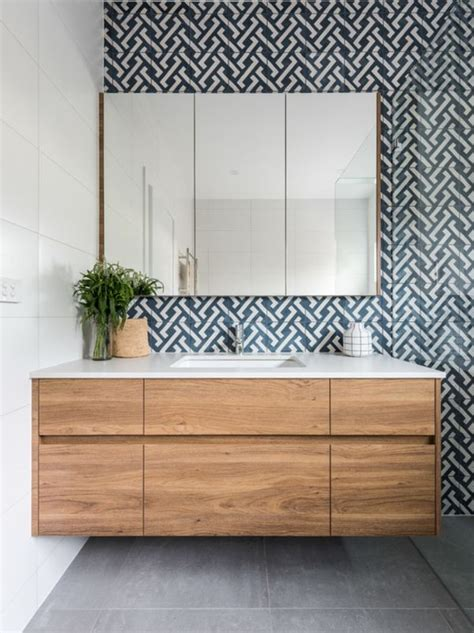 bathroom tile feature ideas 25 best ideas about timber vanity on modern