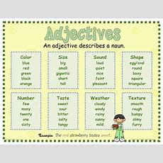 Adjectives  Mrs Warner's Learning Community