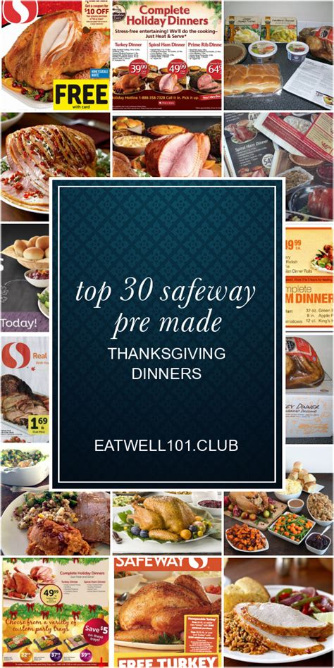 Round up of christmas meal deals at safeway. Top 30 Safeway Pre Made Thanksgiving Dinners - Best Round ...