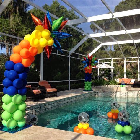 hanging centerpieces pool balloon decor tips balloon coach