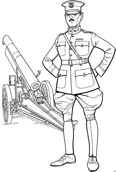 alter soldat vor kanone ausmalbild malvorlage schlachten
