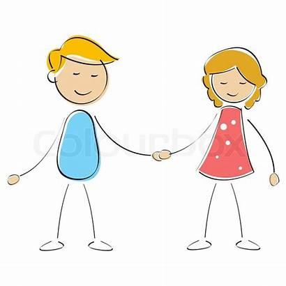 Junge Crush Geschwister Vector Clipart Boy Kindergarten
