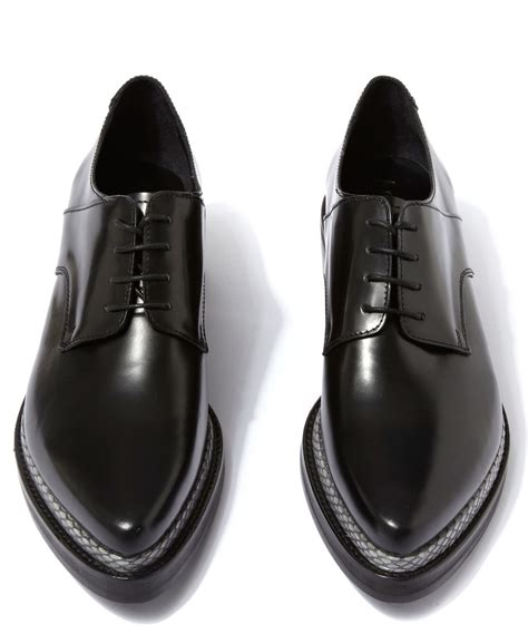 Acne studios Black Leather Lark Shoes in Black