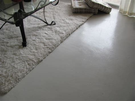 White Floors Living Room Painted Concrete Floor Ideas