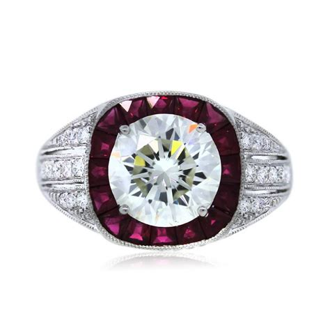 platinum ruby wedding ring platinum certified 2 19ct and ruby engagement ring