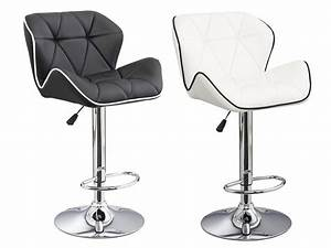 Lot De 2 Tabourets De Bar CHRISTI II Simili 2 Coloris