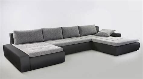 Sofas U Form by Wohnlandschaft Cayenne 389x212 Cm Hellgrau Schwarz Sofa
