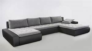 Sofa In U Form : wohnlandschaft cayenne 389x212 cm hellgrau schwarz sofa couch u form wohnbereiche wohnzimmer ~ Markanthonyermac.com Haus und Dekorationen