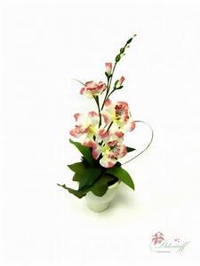 Kunstblumen Orchideen Topf : rosa wei e orchidee im topf k nstlich kunstblumen ~ Whattoseeinmadrid.com Haus und Dekorationen