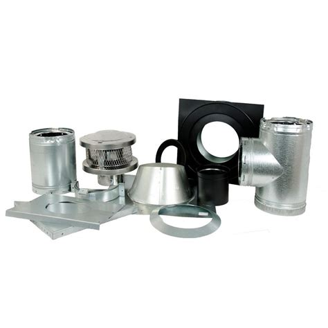 american metal products   wall wood stove kit